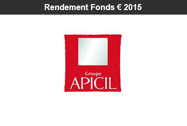 Assurance-vie : rendement 2015 des fonds euro des contrats APICIL (l'un de nos partenaires assureur)